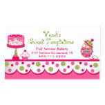 Wunderliche rosa und grüne Bäckerei-Visitenkarte