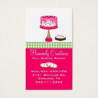 Wunderliche rosa und grüne Bäckerei-Visitenkarte Visitenkarte