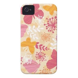 Wunderliche Schmetterlinge Rosa u. orange Girly iPhone 4 Case-Mate Hüllen