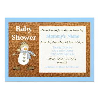 Wunderliche Schneemann-Babyparty-Einladung - Blau