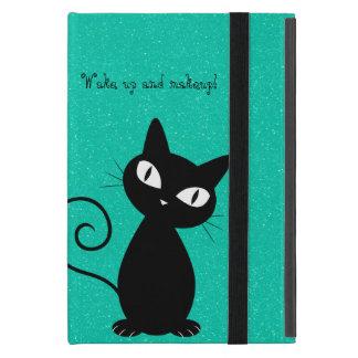 Wunderliche schwarze Katze, Glittery-Wecken oben Etui Fürs iPad Mini