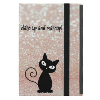 Wunderliche schwarze Katze Glittery-Wecken oben Hülle Fürs iPad Mini