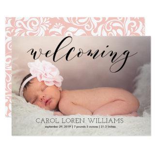 Wunderliche Single-Fotobaby-Geburtsmitteilung 12,7 X 17,8 Cm Einladungskarte