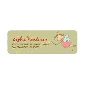 Wunderliche süße Fee-und Stern-Adressen-Etiketten