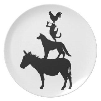 Wunderliche Vieh-Haustiere Flache Teller