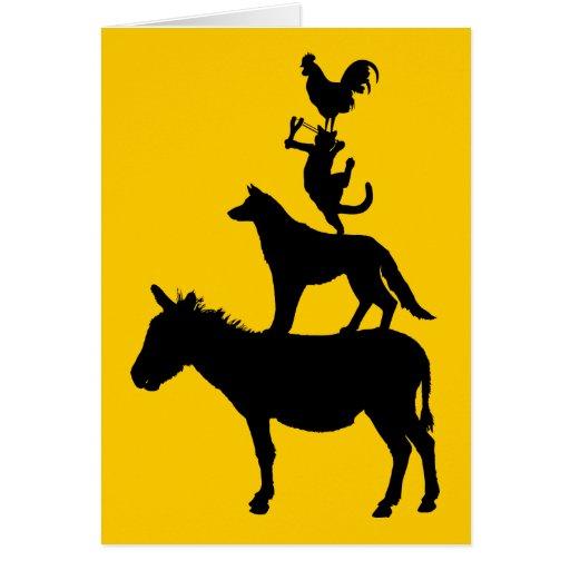 Wunderliche Vieh Grußkarten
