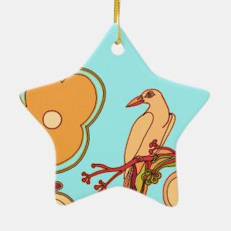 Wunderliche Vögel (irgendeine Farbe, die Sie! Keramik Stern-Ornament