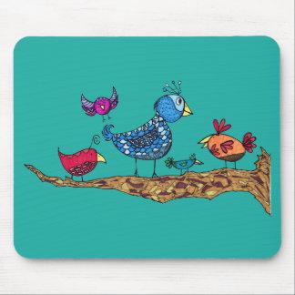 Wunderliche Vögel Mousepad