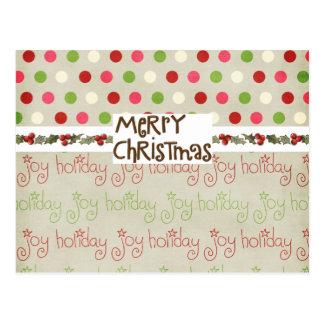 Wunderliche Weihnachtskarte Postkarte