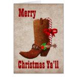 Wunderliche Western-Art-Weihnachtsgruß-Karte Grußkarte