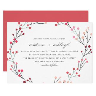 Wunderliche Winter-Kranz-Hochzeit Karte