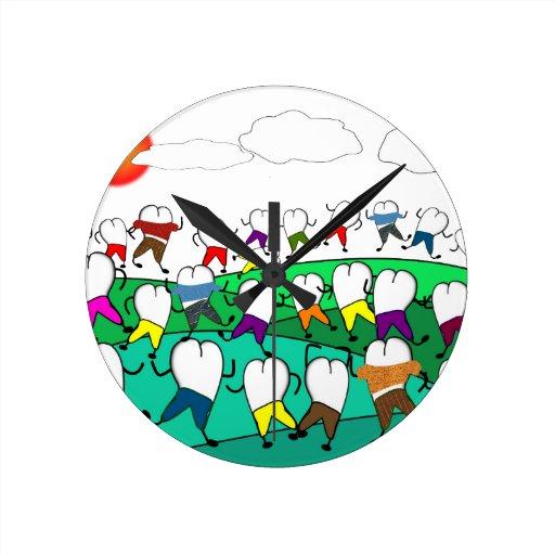 Wunderliche zahnmedizinische Zahn-Kunst-Geschenke Wanduhren
