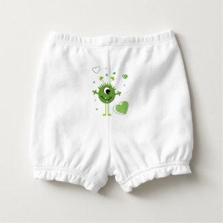 Wunderlichen grünen alien-Monster-St Patrick Tag Baby-Windelhöschen