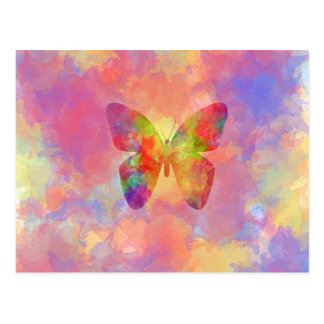 Wunderlicher abstrakter Schmetterlings-RegenbogenW Postkarten