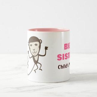 Wunderlicher Affe-große Schwester Kaffeehaferl