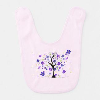 Wunderlicher Baum mit Blumen Babylätzchen