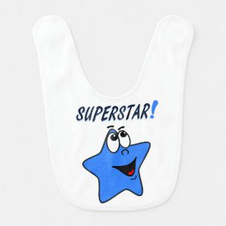 Wunderlicher blauer Cartoonsuperstar-Schellfisch Babylätzchen