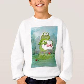 Wunderlicher Frosch mit Dank danken Ihnen, Sweatshirt