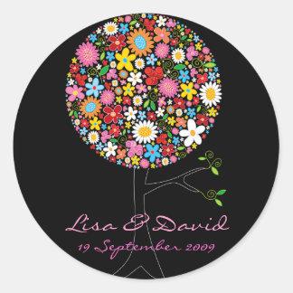 Wunderlicher Frühlings-Blumen-Pop-Baum-Hochzeits-A