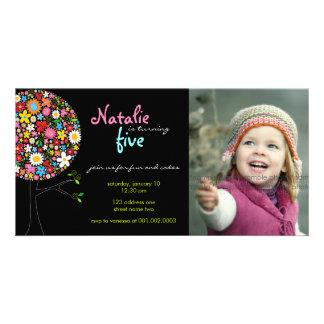 Wunderlicher Frühlings-Blumen-Pop-Baum-Kindergebur Individuelle Photo Karten