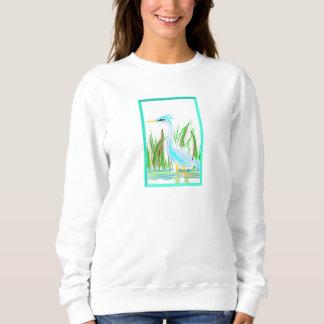 Wunderlicher Kranentwurf auf Sweatshirt