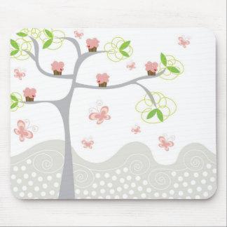 Wunderlicher Kuchen-Baum-Schmetterlings-Bonbon-Geb Mousepad