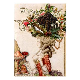 Wunderlicher Marie Antoinette ließ sie Pudding Visitenkarten Vorlagen