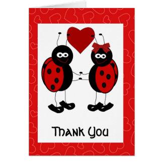 Wunderlicher Marienkäfer danken Ihnen zu kardieren Karte