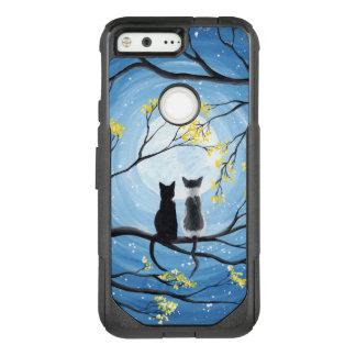 Wunderlicher Mond mit Katzen OtterBox Commuter Google Pixel Hülle