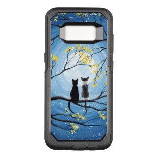 Wunderlicher Mond mit Katzen OtterBox Commuter Samsung Galaxy S8 Hülle