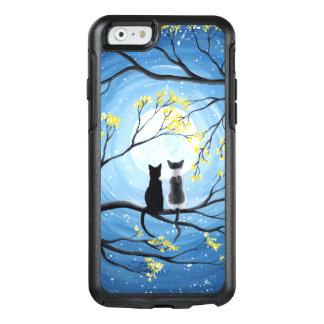 Wunderlicher Mond mit Katzen OtterBox iPhone 6/6s Hülle