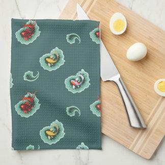 Wunderlicher Paisley-Fisch-Entwurf Handtuch