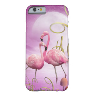 Wunderlicher rosa Flamingos iPhone 6 Fall Barely There iPhone 6 Hülle