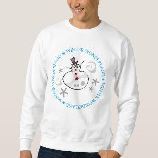 Wunderlicher silberner Winter-Schneemann Sweatshirt