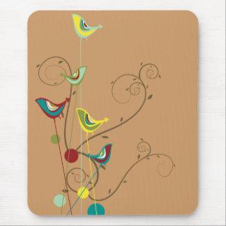 Wunderlicher Sommer-Vogel-Wirbels-moderne Natur-Re Mauspads