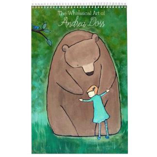 Wunderlicher Storybook-Kunst-Kalender durch Abreißkalender