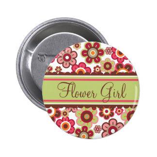 Wunderlicher Süßigkeits-Gänseblümchen-Blumen-Mädch Anstecknadel