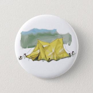 Wunderlicher Zelt-Illustrations-Knopf Runder Button 5,7 Cm