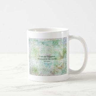 Wunderlicher Zitat Jane Austens Stolz und Kaffeetasse