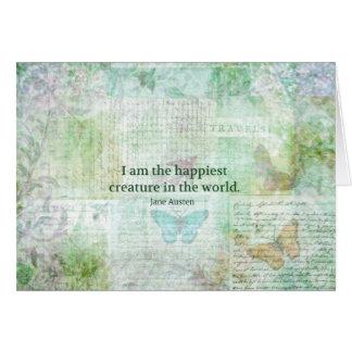 Wunderlicher Zitat Jane Austens Stolz und Karte
