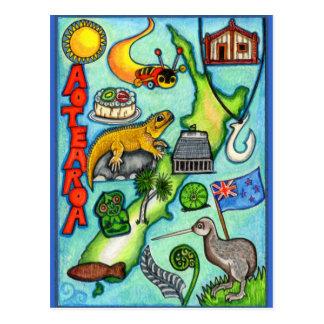 Wunderliches Aotearoa Postkarte