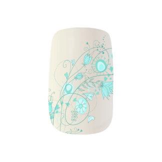 Wunderliches aquamarines - Finger 2 Minx Nagelkunst