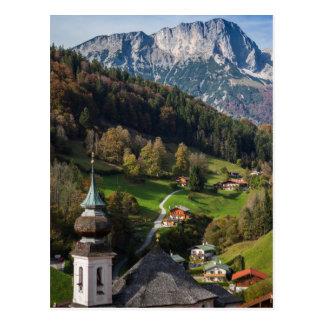 Wunderliches bayerisches Dorf, Deutschland Postkarte