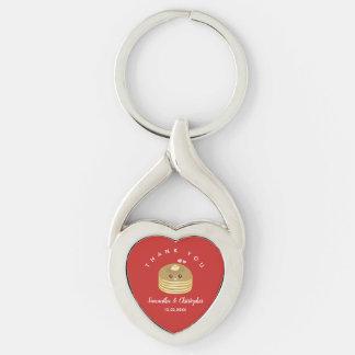 Wunderliches besseres Wedding zusammen danken Schlüsselanhänger