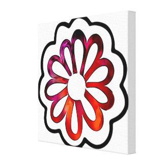 Wunderliches Blumen-Power-Gekritzel Leinwanddruck