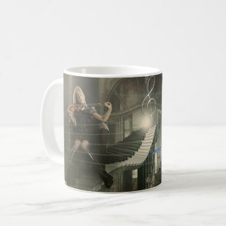 Wunderliches Fantasie-Klavier u. Kaffeetasse