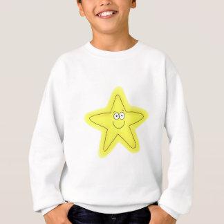 Wunderliches glückliches Gesicht des Sternes Sweatshirt