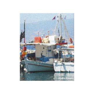 Wunderliches griechisches Harbor_Style 1 Leinwanddruck