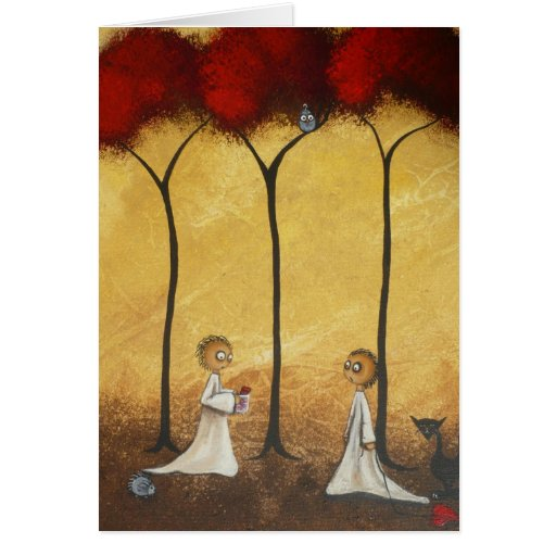 Wunderliches Gruß-Karten-Glas Herzen