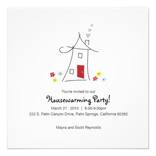 Wunderliches Housewarming-Party Einladungskarte